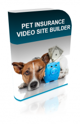 Pet Insurance Video Site Builder Software with Master Resell Rights