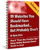 99 Websites You Should Have Bookmarked : Volume 1 eBook with Resell Rights