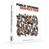Public Speaking Graphics Pack Graphic with private label rights