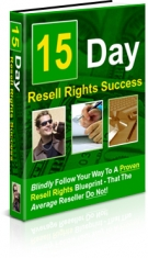 15 Day Resell Rights Success eBook with Private Label Rights