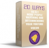 20 Ways To Get More People Watching eBook with Master Resell Rights/Giveaway Rights
