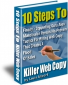 10 Steps To Killer Web Copy eBook with Resell Rights