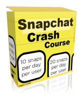Snapchat Crash Course Video with Resale Rights