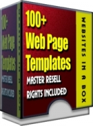 100+ WebPage Templates Template with Master Resale Rights