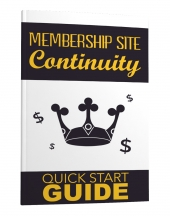 Membership Site Continuity eBook with private label rights