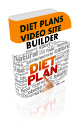 Diet Plans Video Site Builder Software with Master Resell Rights