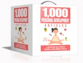 1000 Personal Development Articles Gold Article with Private Label Rights