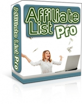 Affiliate List Pro Software with Master Resell Rights
