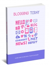 Blogging Today eBook with private label rights