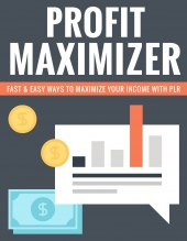 Profit Maximizer eBook with Private Label Rights