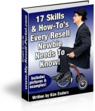 17 Skills & How-To's Every Newbie Reseller Needs eBook with Master Resale Rights