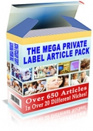 The Mega Private Label Article Pack eBook with Private Label Rights
