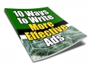 10 Ways to Write More Effective Ads eBook with Private Label Rights