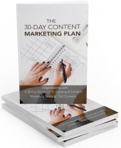 30 Days Content Marketing Plan eBook with private label rights