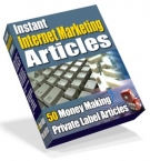 Instant Internet Marketing Articles eBook with Private Label Rights