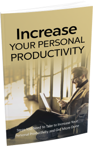 Increase Your Personal Productivity eBook with Master Resale Rights