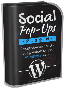 Social Pop-Ups Plugin Software with Resale Rights