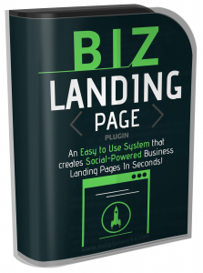 BIZ Landing Page Plugin Software with Resale Rights