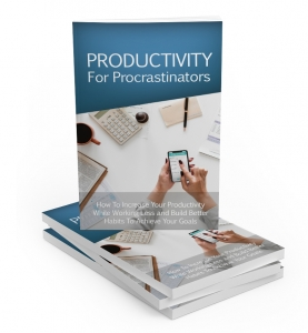 Productivity For Procrastinators eBook with Master Resale Rights