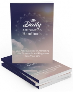 The Daily Affirmation Handbook eBook with private label rights