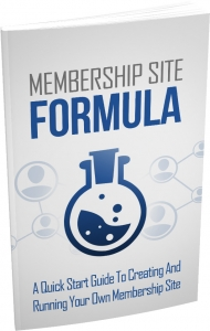 Membership Site Formula eBook with Master Resale Rights
