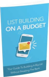 List Building on a Budget ebook with Master Resale Rights