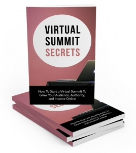 Virtual Summit Secrets ebook with Master Resale Rights