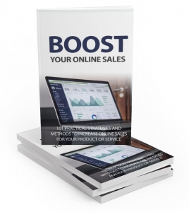 Boost Your Online Sales ebook with Master Resale Rights