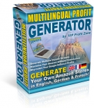 Multilingual Profit Generator Software with Resell Rights