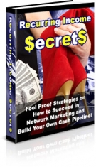 Recurring Income Secrets eBook with Private Label Rights