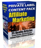 Private Label Article Pack : Affiliate Marketing eBook with Private Label Rights