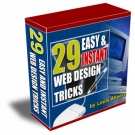 29 Easy & Instant Web Design Tricks : Volume 1 Video with private label rights