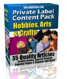Private Label Article Pack : Hobbies, Arts & Crafts eBook with Private Label Rights