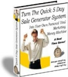 Turn The Quick 5 Day Sale Generator System eBook with Resell Rights