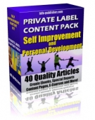 Private Label Article Pack : Self Improvement Articles eBook with Private Label Rights