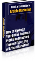 Quick & Easy Guide to Article Marketing eBook with Private Label Rights