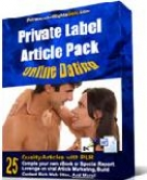 Private Label Article Pack : Online Dating Articles eBook with Private Label Rights