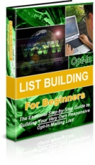Opt-in List Building For Beginners eBook with Private Label Rights