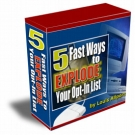 5 Fast Ways To EXPLODE Your Opt-In List Video with Personal Use Rights
