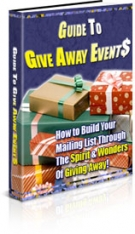 Guide To Give Away Events eBook with Private Label Rights