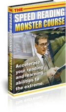 The Speed Reading Monster Course eBook with Private Label Rights
