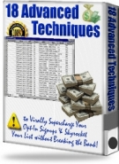 18 Advanced Techniques eBook with Resell Rights