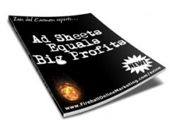 Ad Sheets Equals Big Profits