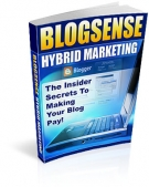 Blog Sense Hybrid Marketing eBook with Resell Rights