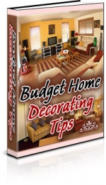 Budget Home Decorating Tips eBook with Resell Rights