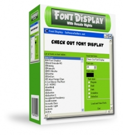 Font Display with Resale Rights