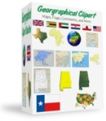 Geographical Clipart Graphic with Resell Rights