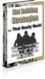 List Building Strategies That Really Work eBook with Private Label Rights