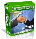 Private Label Article Pack : Internet Marketing Articles eBook with Private Label Rights