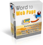Word To Web Page Software with Resell Rights